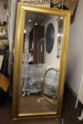 A LARGE MIRROR, APPROX. 170 X 80 CM