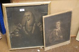 A MOUNTED ENGRAVING TITLED 'MR GARRICK IN THE CHARACTER OF KITELY TOGETHER WITH A FRAMED AND