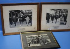 HORSE / DOG / RACING INTEREST - two photographs relating to the 'Leighton Hill Handicap' of
