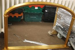 A WALL HANGING MIRROR APPROX. 124 X 86 CM