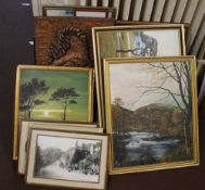 A QUANTITY OF PICTURES AND PRINTS TO INCLUDE LANDSCAPES