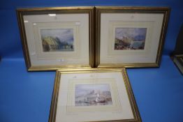 THREE FRAMED AND GLAZED LIMITED EDITION J. M. W. TURNER PRINTS WITH CERTIFICATES OF AUTHENTICITY