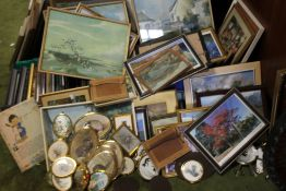A LARGE QUANTITY OF PICTURES AND PRINTS TO INCLUDE MINIATURES