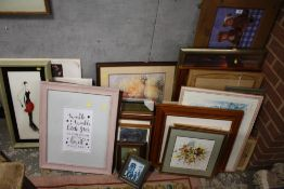 A LARGE QUANTITY OF PICTURES AND PRINTS