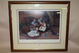 A FRAMED AND GLAZED SIGNED LIMITED EDITION PRINT BY DAVID SHEPHERD ENTITLED 'BUT TEDDY DOESNT NEED A