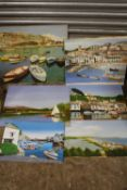 A COLLECTION OF UNFRAMED OIL ON BOARD PAINTINGS OF HARBOUR SCENES, SOME SIGNED N K DAY
