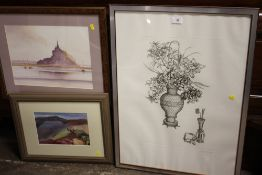 A COLLECTION OF PICTURES AND PRINTS TO INCLUDE WATERCOLOURS, SIGNED LIMITED EDITION PRINTS TO