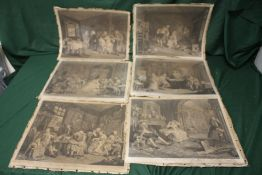 A COLLECTION OF UNFRAMED ENGRAVINGS ENTITLED MARRIAGE OH-LA-MODE