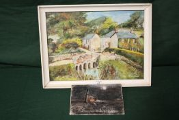 TWO OIL ON BOARDS, DEPICTING CORNISH SCENES, ONE SIGNED NELLY JAMES