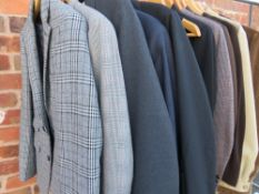 A COLLECTION OF GENTS VINTAGE / RETRO CLOTHING, comprising a selection of suits to include Homers