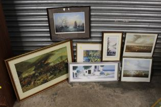 A COLLECTION OF SIGNED LIMITED EDITION PRINTS TO INCLUDE A 'DEFENCE OF RORKE'S DRIFT' PRINT, DAVID