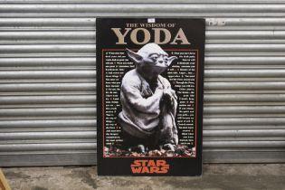 A STAR WARS INTEREST 'THE WISDOM OF YODA' PRINT, 61 X 91 CM