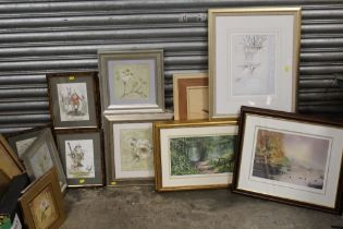 A QUANTITY OF ASSORTED PRINTS TO INCLUDE A SET OF SIX NOVELTY PRINTS, LIMITED EDITION PRINTS ETC. (