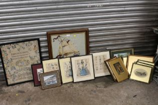 A COLLECTION OF ASSORTED PICTURES AND PRINTS TO INCLUDE 7 FRAMED AND GLAZED 'THE PAST AND NEW