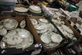 SIX TRAYS OF ROYAL DOULTON 'COUNTESS' TEA & DINNERWARE, MAINLY GOOD CONDITION, see condition