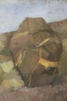 J.G. (XX). Impressionist study of a holdall travel bag, signed with initials lower left, oil on