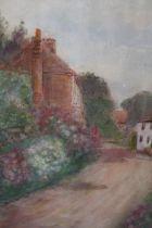 AFTER MILDRED ANNE BUTLER (1858-1941). Irish school, village street scene with cottages, bears