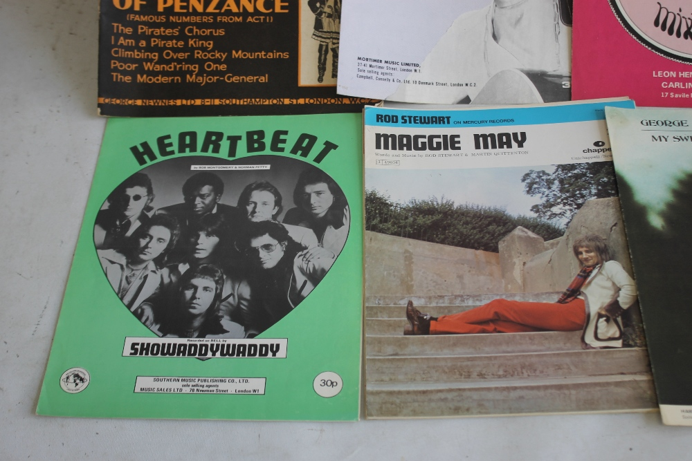 A QUANTITY OF SHEET MUSIC TO INCLUDE 1960S / 70S (approx. 40) George Harrison - My Sweet Lord, Rod - Image 3 of 6