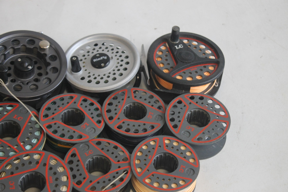 """5 LEEDA FLY REELS to include """"Mayfly,"""" """"Rimfly,"""" """"LC 100,"""" and """"LC 80"""" with spare spools¦Condition - Image 3 of 5"""