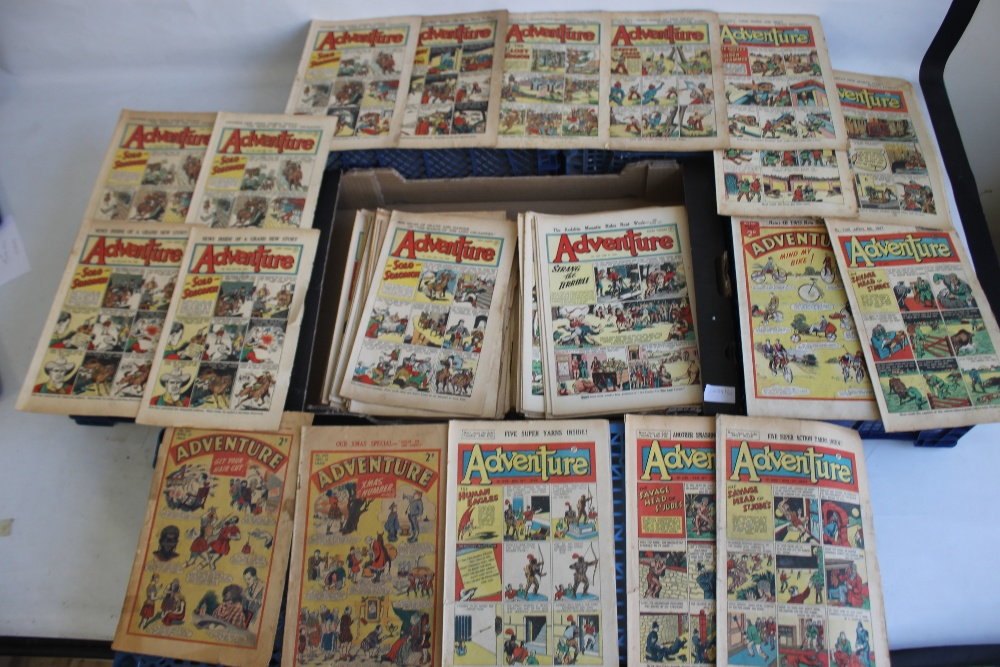 ADVENTURE' COMIC 1942 - 1960, 176 issues in total, not a full run, some duplicates, various