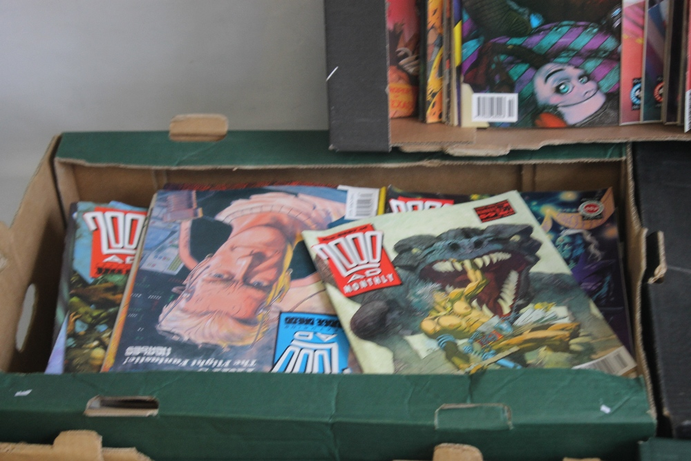 A LARGE QUANTITY OF 2000AD COMICS, mainly 1980s and 1990s, some in sealed packets and a few with - Image 5 of 10