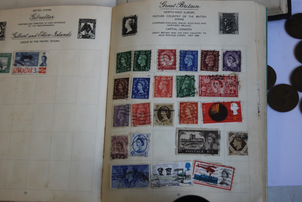 TWO ALBUMS OF BRITISH AND WORLD STAMPS IN ALBUMS AND ON COVERS, together with a small quantity of - Image 5 of 6