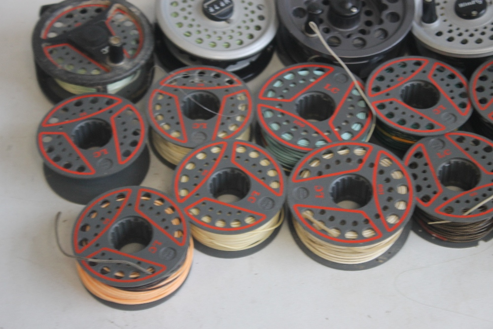 """5 LEEDA FLY REELS to include """"Mayfly,"""" """"Rimfly,"""" """"LC 100,"""" and """"LC 80"""" with spare spools¦Condition - Image 4 of 5"""