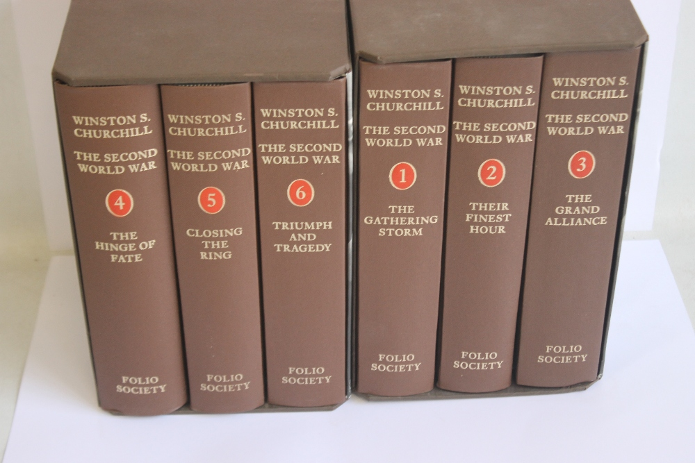 FOLIO SOCIETY - WINSTON S. CHURCHILL THE SECOND WORLD WAR, six volumes in two slip cases, 2nd - Image 2 of 2