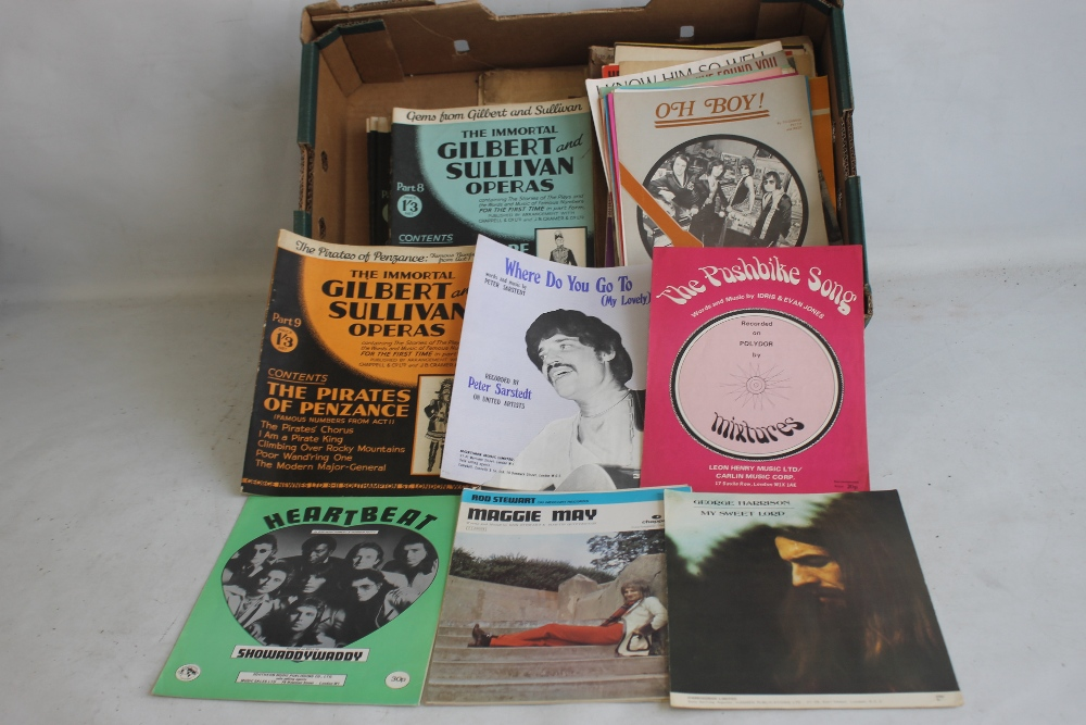 A QUANTITY OF SHEET MUSIC TO INCLUDE 1960S / 70S (approx. 40) George Harrison - My Sweet Lord, Rod
