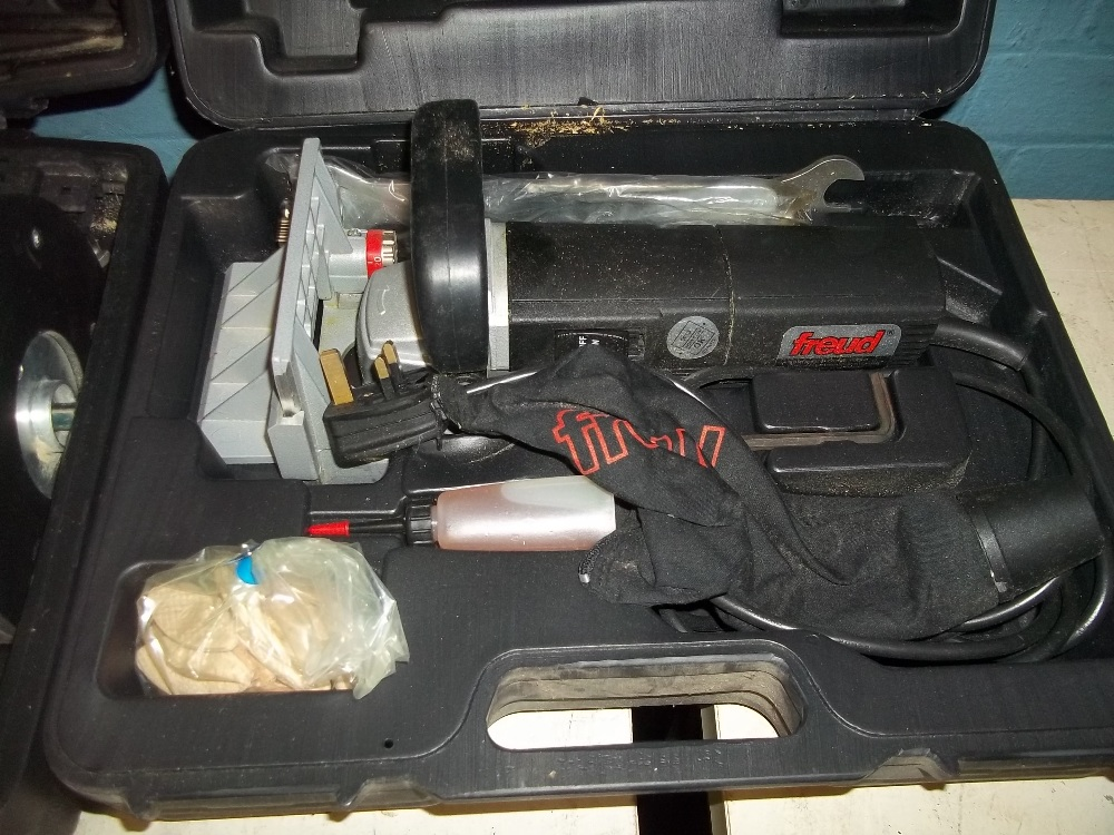 A SELECTION OF BOXED DIY POWER TOOLS INCLUDING A ROUTER AND AN INDUSTRIAL FREUD MORTICEU ETC. - Image 5 of 6