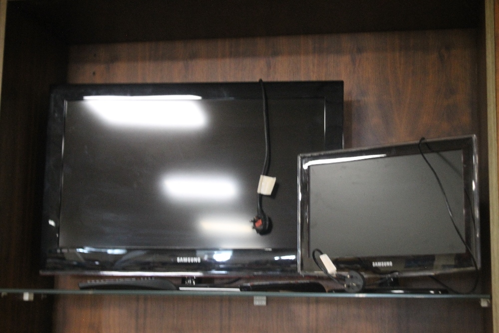 """A SAMSUNG 32"""" FLATSCREEN TV together with another (2)"""
