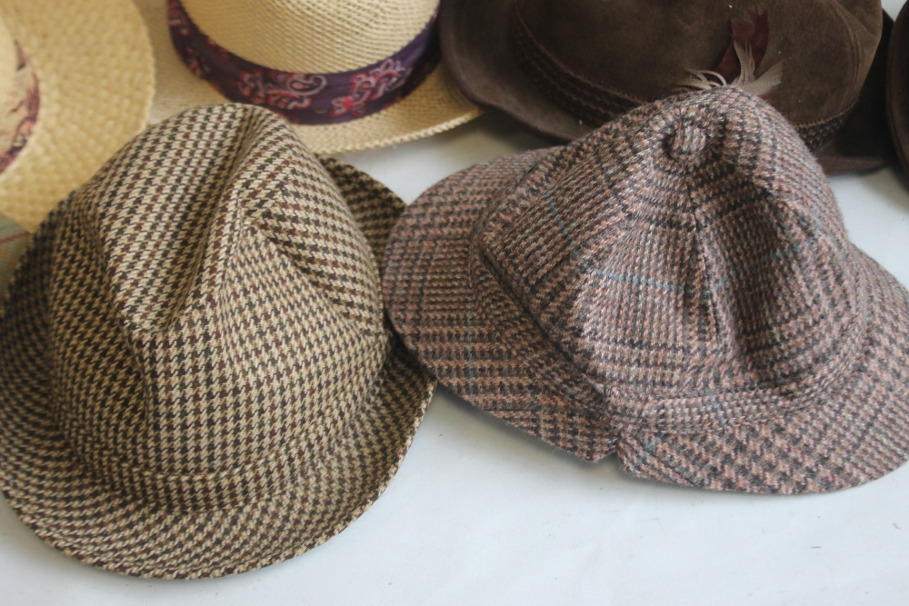 A COLLECTION OF HATS to include an Attaboy trilby, ladies' deerstalkers by Olney, Stormafit, Glen - Image 3 of 8