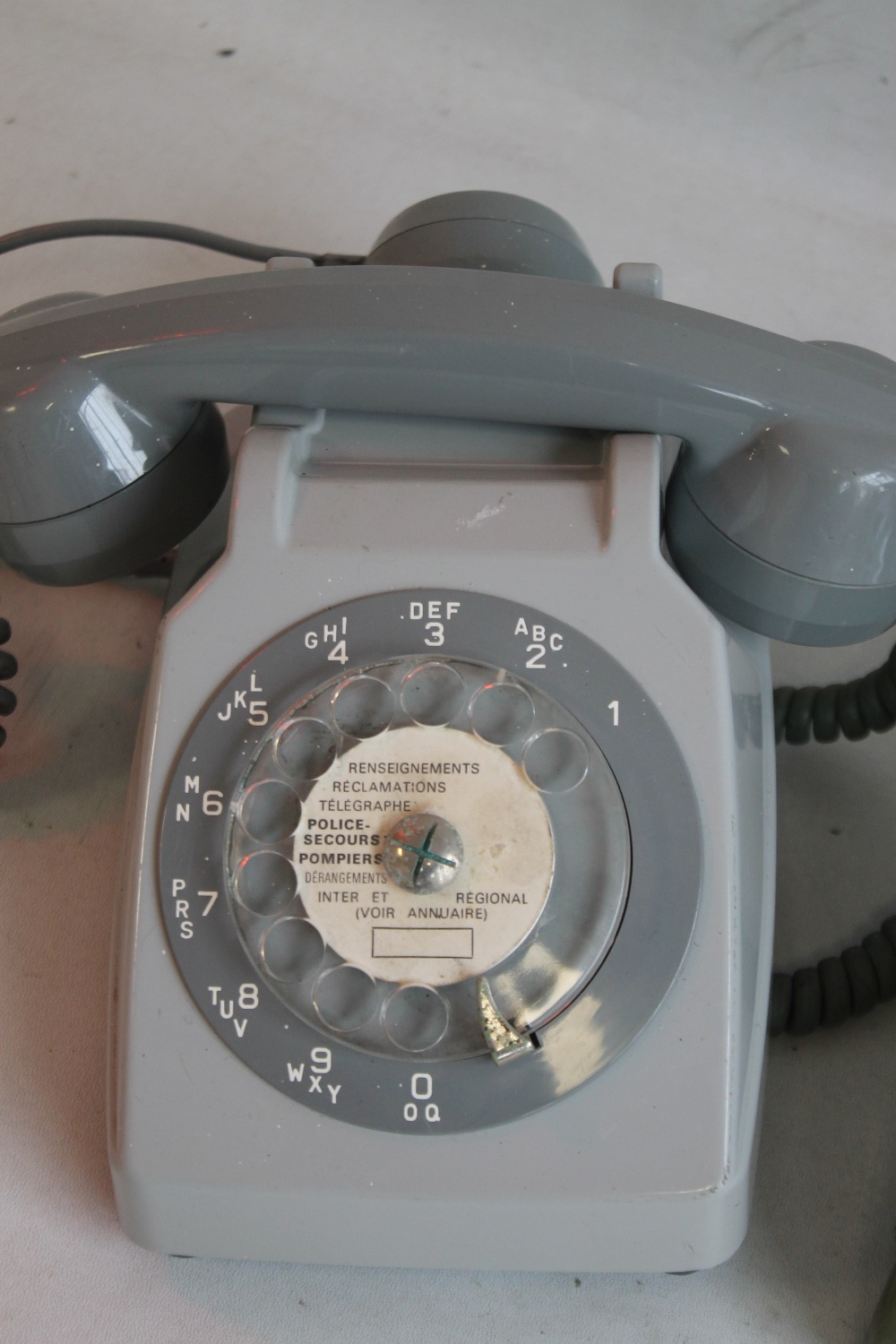 1950S FRENCH DIAL TELEPHONE WITH MOTHER IN LAW LISTENER CONVERTED together with a 1950s US 500 - Image 3 of 3