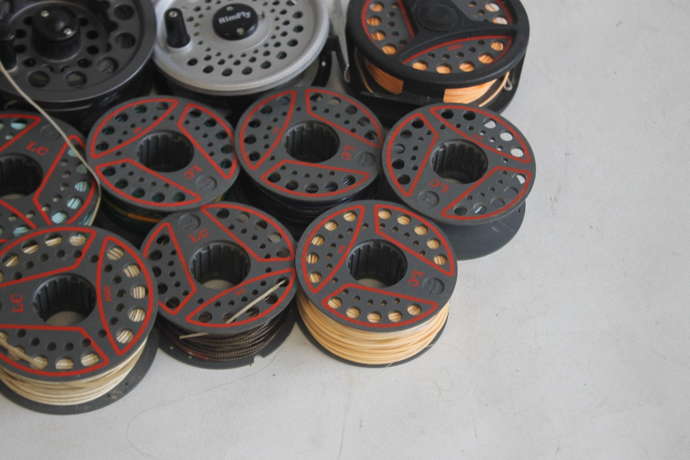 """5 LEEDA FLY REELS to include """"Mayfly,"""" """"Rimfly,"""" """"LC 100,"""" and """"LC 80"""" with spare spools¦Condition - Image 5 of 5"""