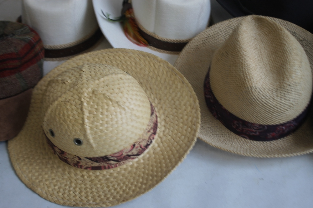 A COLLECTION OF HATS to include an Attaboy trilby, ladies' deerstalkers by Olney, Stormafit, Glen - Image 5 of 8