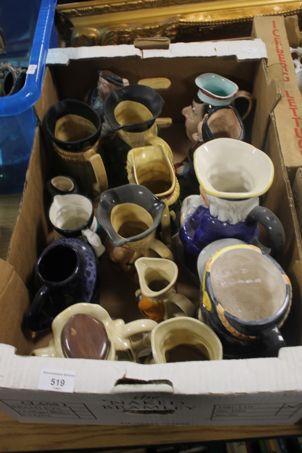 A TRAY OF TOBY JUGS (tray not included)