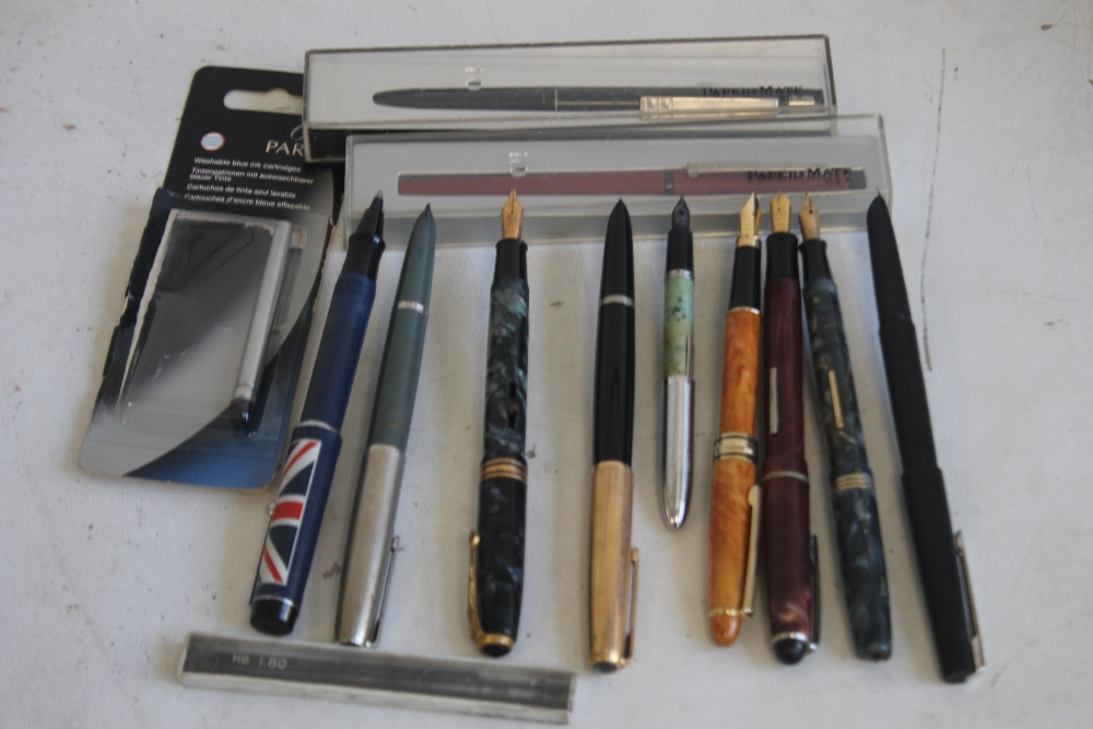 A SELECTION OF PENS, to include Osmiroid, Parker, Papermate etc