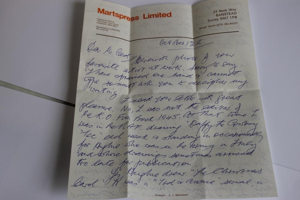 LEONARD MATTHEWS SIGNED LETTERS AND PHOTOGRAPH OF HUGH MCNEILL, - Leonard Matthews was editor, - Image 5 of 6