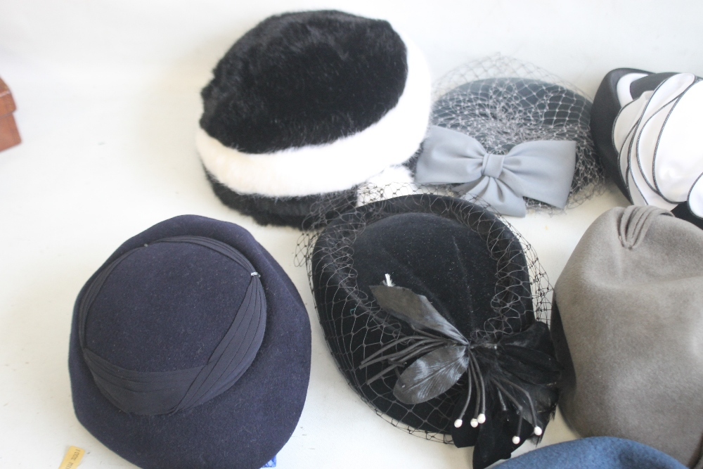 A SMALL QUANTITY OF PILLBOX STYLE HATS to include 'Headways by Albert', 'Marten' etc. and a Maugreen - Image 2 of 6