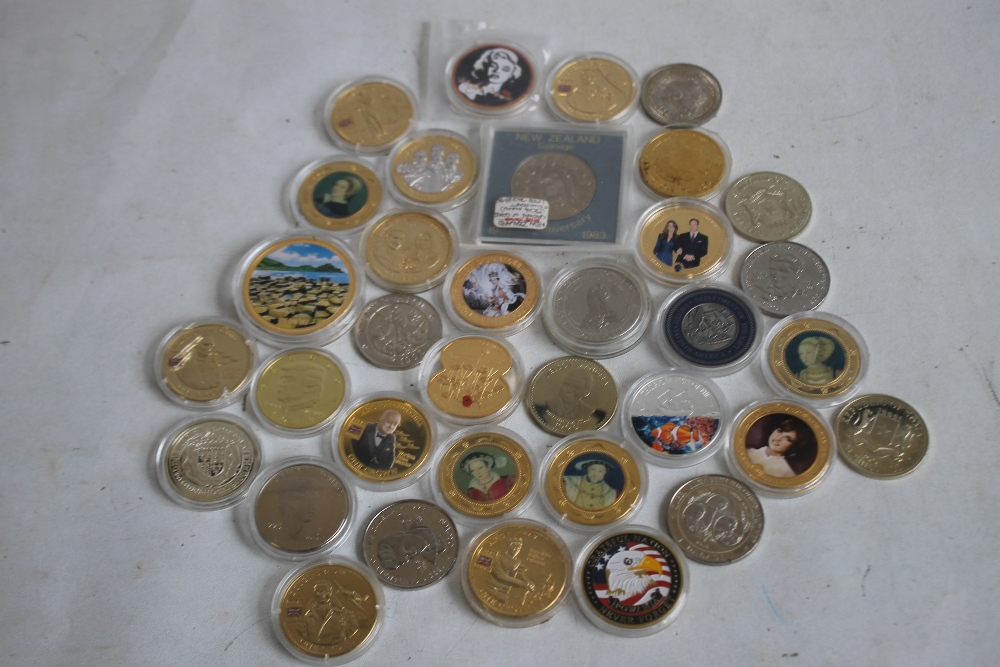 A COLLECTION OF MODERN COMMEMORATIVE CROWN SIZED COINS, to include issues from Fiji, New Zealand,