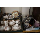 THREE TRAYS OF CERAMICS to include Wedgwood (trays not included)