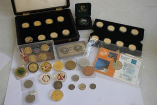 A COLLECTION OF US AND CENTRAL AMERICAN INTEREST COINS, to include a selection of US buffalo