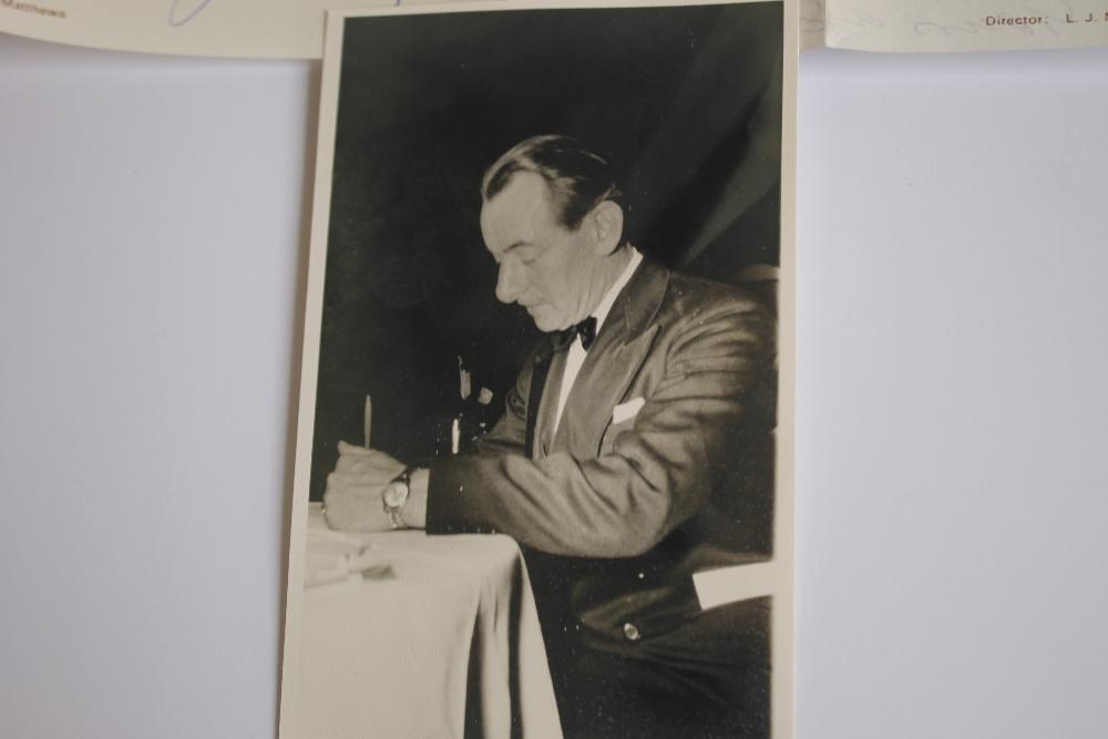 LEONARD MATTHEWS SIGNED LETTERS AND PHOTOGRAPH OF HUGH MCNEILL, - Leonard Matthews was editor, - Image 3 of 6