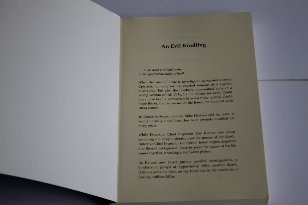 ROBYN SHEFFIELD - 'AN EVIL KINDLING', rare book, first edition published by Blackthorn Crime 1998 - Image 2 of 4