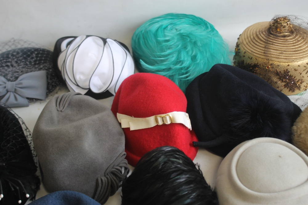 A SMALL QUANTITY OF PILLBOX STYLE HATS to include 'Headways by Albert', 'Marten' etc. and a Maugreen - Image 3 of 6