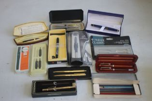A SELECTION OF PEN AND PENCIL SETS, to include Waterman, Papermate, Conway Stewart etc