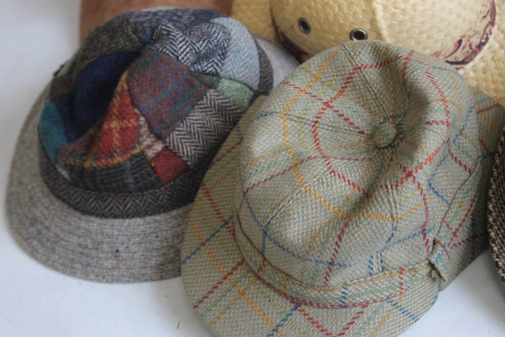 A COLLECTION OF HATS to include an Attaboy trilby, ladies' deerstalkers by Olney, Stormafit, Glen - Image 2 of 8