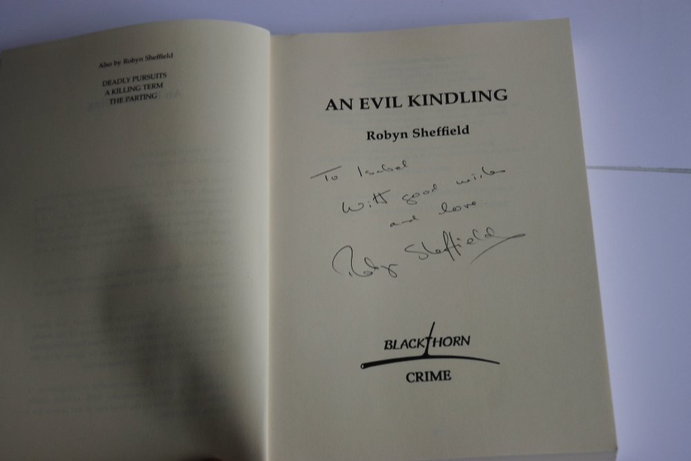 ROBYN SHEFFIELD - 'AN EVIL KINDLING', rare book, first edition published by Blackthorn Crime 1998 - Image 3 of 4