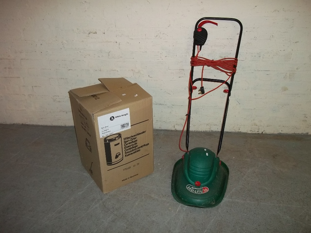 THREE CAT BEDS/CAGES, ONE NEW BOXED SPINNER AND A HOVER MOWER - Image 2 of 3