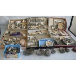 THREE TRAYS OF ASSORTED FOSSILS, to include gastropods, amonites etc